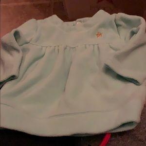Carter's Girls Green Fleece Top!